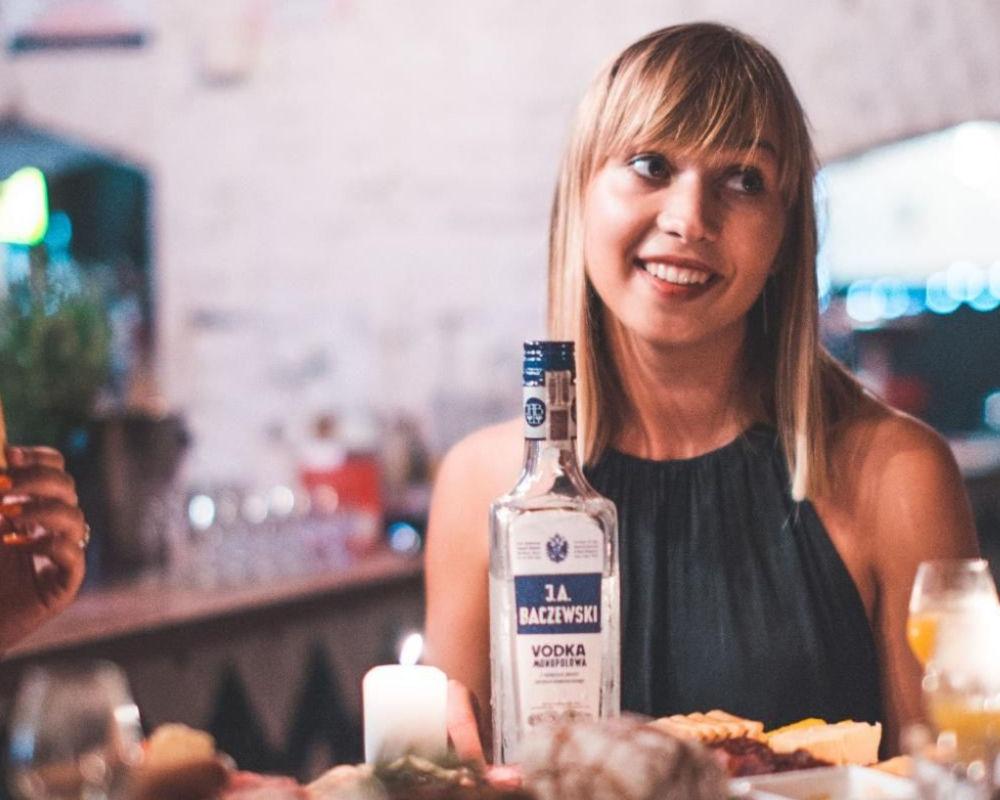 Tasting vodka in Krakow