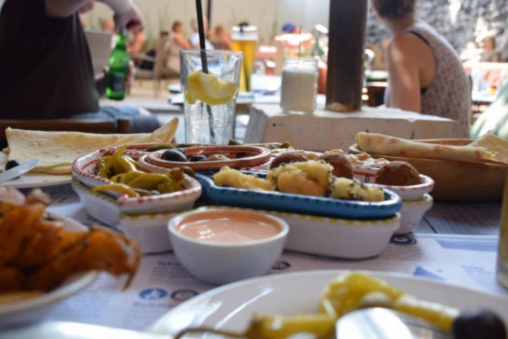 The food at Hamsa
